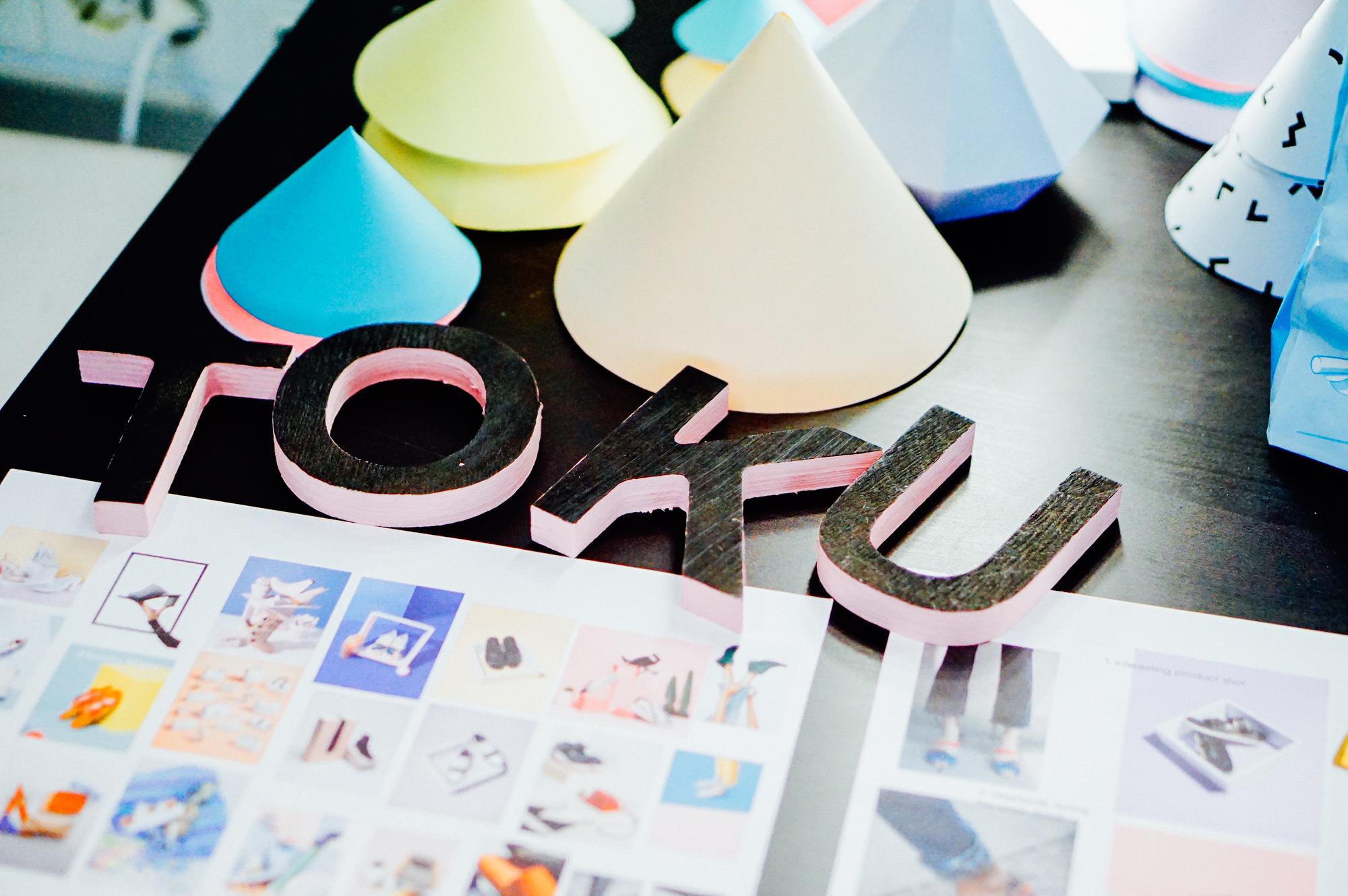TOKU branding, graphic design